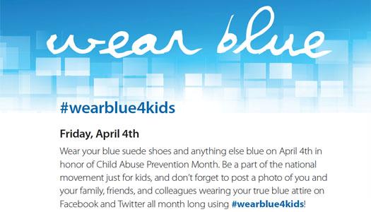 Kid's wear blue. Friday April 4th